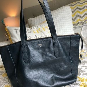 Fossil Sloan large tote navy blue